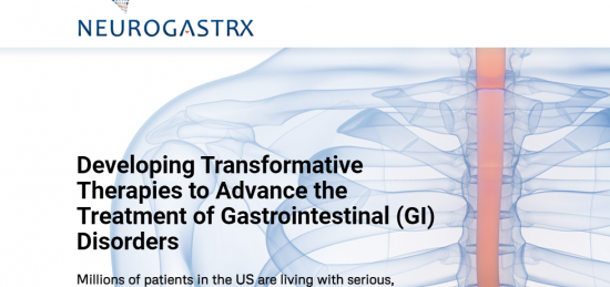 Neurogastrx Announces Agreement with Daewoong Pharmaceutical to Develop Fexuprazan for Treatment of Acid-Related GI Disorders in the U.S.